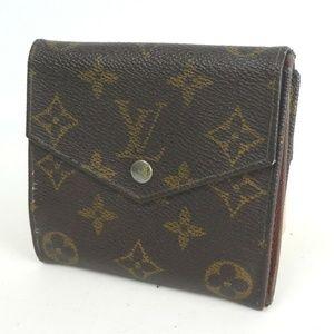 Auth Louis Vuitton Bifold Small Wallet 380L1045
